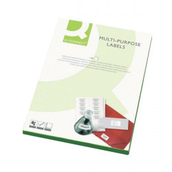 Q-Connect Multipurpose Labels 99.1x34mm 16 Per Sheet White (Pack of 1600) KF26053