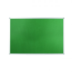 Q-Connect Aluminium Frame Felt Noticeboard 1800x1200mm Green 54034205