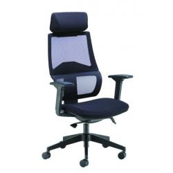 Arista Cadence High Back Executive Mesh Chair Black KF71481
