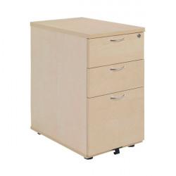 Jemini Maple 3 Drawer 800mm Desk High Pedestal KF72074