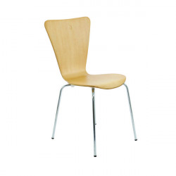Arista Beech/Silver Picasso Wooden Chair (Pack of 4) KF72460