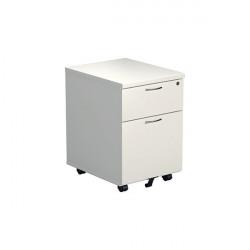 Jemini 2 Drawer Mobile Pedestal 404x500x595mm White KF74147
