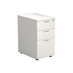 Jemini 3 Drawer Desk High Pedestal 404x600x730mm White KF74149