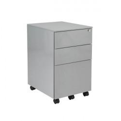 Jemini Silver Mobile Steel 3 Drawer Pedestal KF74155