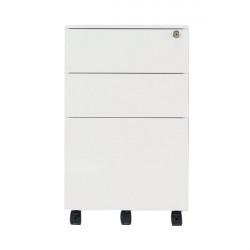 Jemini 3 Drawer Mobile Pedestal Steel 380x470x615mm White KF74156