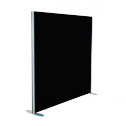Jemini Black 1600x800 Floor Standing Screen Including Feet KF74329