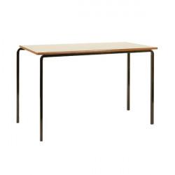 Jemini MDF Edged Class Table W1100 x D550 x H590mm Beech/Black (Pack of 4) KF74550