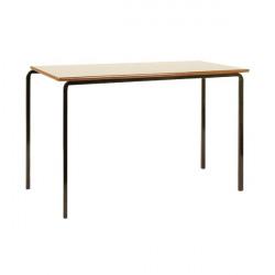 Jemini MDF Edged Class Table W1100 x D550 x H710mm Beech/Black (Pack of 4) KF74552