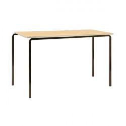 Jemini PU Edged Class Table W1200 x D600 x H710mm Beech/Black (Pack of 4) KF74565