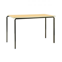 Jemini PU Edged Class Table W1100 x D550 x H590mm Beech/Silver (Pack of 4) KF74568