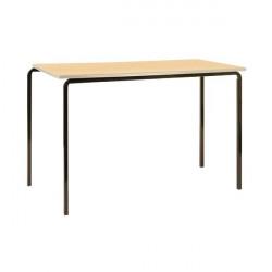 Jemini PU Edged Class Table W1200 x D600 x H590mm Beech/Silver (Pack of 4) KF74569