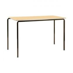 Jemini PU Edged Class Table W1100 x D550 x H710mm Beech/Silver (Pack of 4) KF74570
