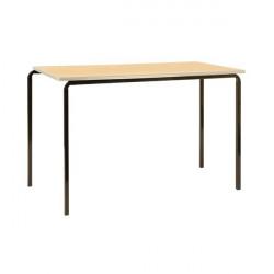 Jemini PU Edged Class Table W1200 x D600 x H710mm Beech/Silver (Pack of 4) KF74571