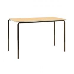 Jemini PU Edged Class Table W1100 x D550 x H760mm Beech/Silver (Pack of 4) KF74572