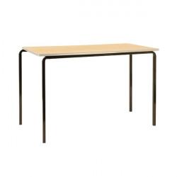 Jemini PU Edged Class Table W1200 x D600 x H760mm Beech/Silver (Pack of 4) KF74573
