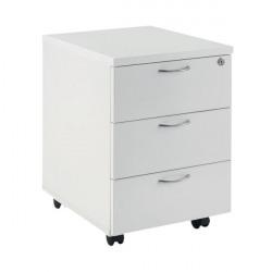 First Mobile Under Desk Pedestal 3 Door White KF74768