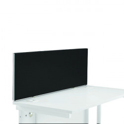 First Desk Mounted Screen 1200x25x400mm Special Black KF74837