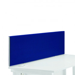 First Desk Mounted Screen 1400x25x400mm Special Blue KF74838