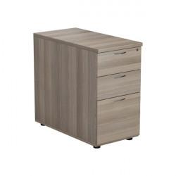 Jemini Grey Oak 3 Drawer Desk High Pedestal D800 KF78951