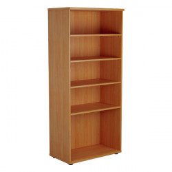Jemini 1800 Wooden Bookcase 450mm Depth Beech KF810551