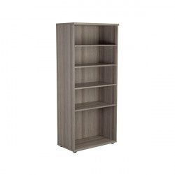Jemini 1800 Wooden Bookcase 450mm Depth Grey Oak KF810995