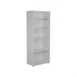 Jemini 2000 Wooden Bookcase 450mm Depth White KF811190