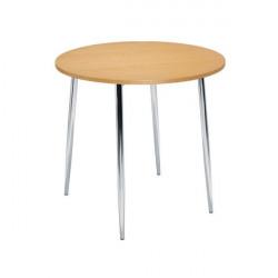 Arista Beech/Chrome 800mm Round Bistro Table KF815146