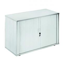 Jemini Side Opening Tambour Cupboard 2m High White KF818596