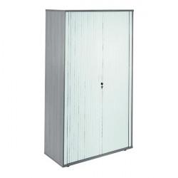 Jemini Side Opening Tambour Cupboard 2m High Grey Oak KF818603