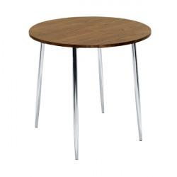 Arista Walnut/Chrome 800mm Round Bistro Table KF838316