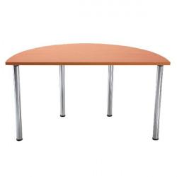 Serrion Bavarian Beech Semi-Circular Meeting Room Table Folding Leg KF838578