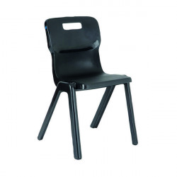 Titan One Piece Chair 430mm Charcoal (Pack of 30) KF838726