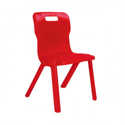 Titan One Piece Chair 460mm Red (Pack of 30) KF838743