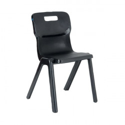 Titan One Piece Chair 460mm Charcoal (Pack of 30) KF838746