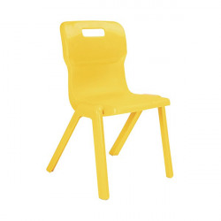 Titan One Piece Chair 460mm Yellow (Pack of 30) KF838747
