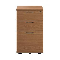 First Tall Under Desk Pedestal 3 Drawer Nova Oak KF90260