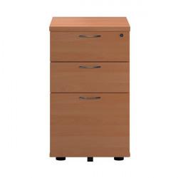 First Tall Under Desk Pedestal 3 Drawer Beech KF90261
