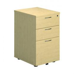 First Under Desk Pedestal 3 Drawer Maple FRTESUDP3MA