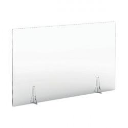 Jemini Free Standing Acrylic Screen 1200x700x4mm Clear COVFS1270CL