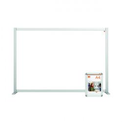 Jemini Acrylic Modular Desk Divider 1400 x 1000mm Clear KF90372