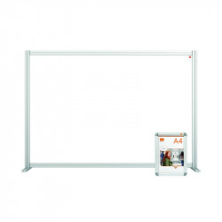 Nobo Modular Desk Divider Screen Acrylic 1400x50x1000mm Clear KF90372