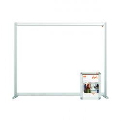 Jemini Acrylic Modular Desk Divider 1200 x 1000mm Clear KF90373