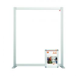 Jemini Acrylic Modular Desk Divider 800 x 1000mm Clear KF90375