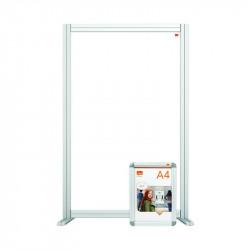 Nobo Modular Desk Divider Screen Acrylic 600x50x1000mm Clear KF90375