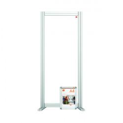 Nobo Modular Desk Divider Screen Acrylic 400x50x1000mm Clear KF90376
