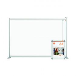 Jemini Acrylic Modular DeskDivider Extension 1400x1000mm Clear KF90378