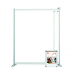 Jemini Acrylic Modular Desk Divider Extension 800x1000mm Clear KF90380