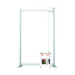 Nobo Modular Desk Divider Screen Extension Acrylic 600x50x1000mm Clear KF90380