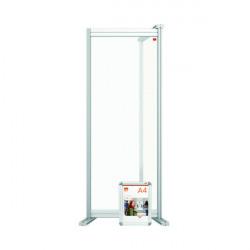 Nobo Modular Desk Divider Screen Extension Acrylic 400x50x1000mm Clear KF90381