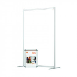 Nobo Modular Free Standing Room Divider Acrylic 1200x50x1800mm Clear KF90382